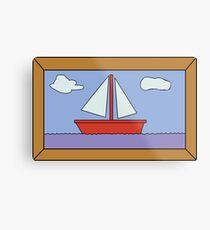 Sail Boat Artwork Metal Print
