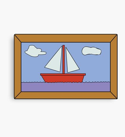 Sail Boat Artwork Canvas Print