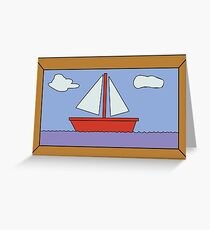 Sail Boat Artwork Greeting Card