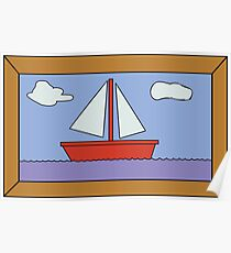 Sail Boat Artwork Poster