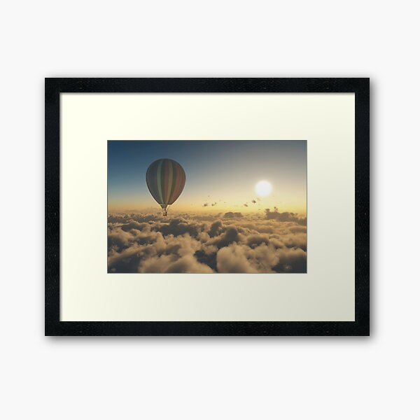 Adventure Above the Clouds Framed Art Print