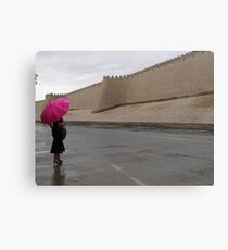 Standing in the rain (Khiva) Canvas Print
