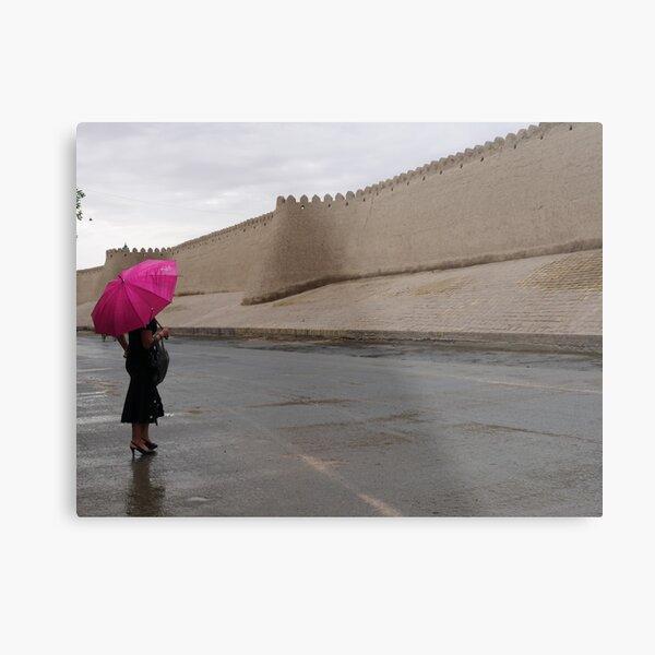Standing in the rain (Khiva) Metal Print