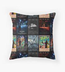 Black Box Films Poster Collage Throw Pillow