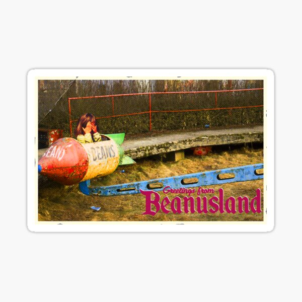 Beanusland postcard Sticker