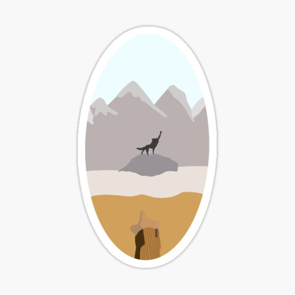 Canis Lupus, Good Luck Out There Sticker