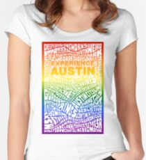 Experience Austin Rainbow SPECIAL EDITION Women's Fitted Scoop T-Shirt
