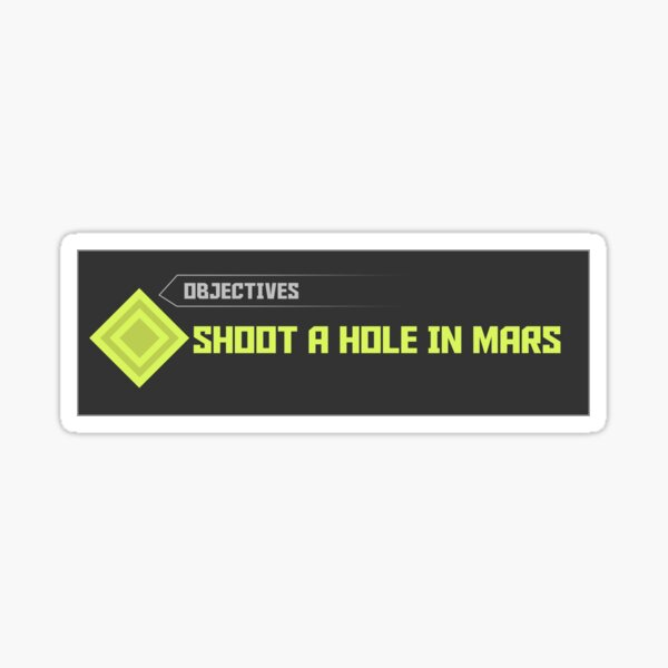 Doom Eternal - Shoot a hole in mars Sticker