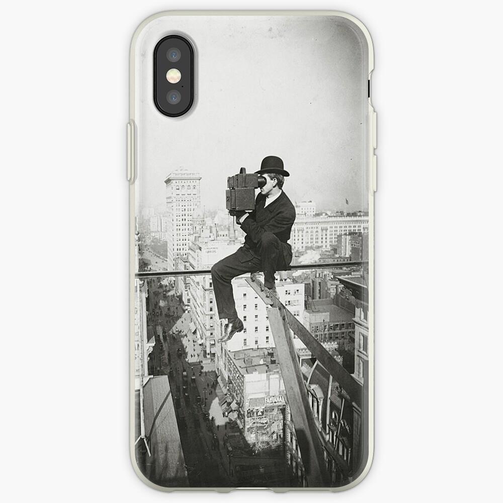 Photographing NYC Above 5th Avenue (1905) Funda y vinilo para iPhone