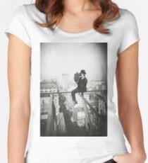 Camiseta entallada de cuello redondo Photographing NYC Above 5th Avenue (1905)
