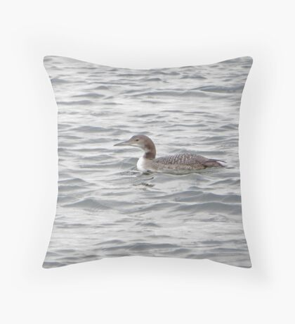 A Loon of Wisconsin Throw Pillow