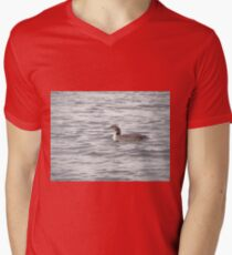 A Loon of Wisconsin Men's V-Neck T-Shirt