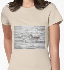 A Loon of Wisconsin Womens Fitted T-Shirt