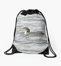 A Loon of Wisconsin Drawstring Bag