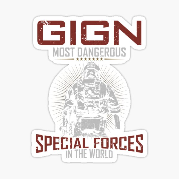 GIGN French Special Forces Best Gift For GIGN Lover Sticker