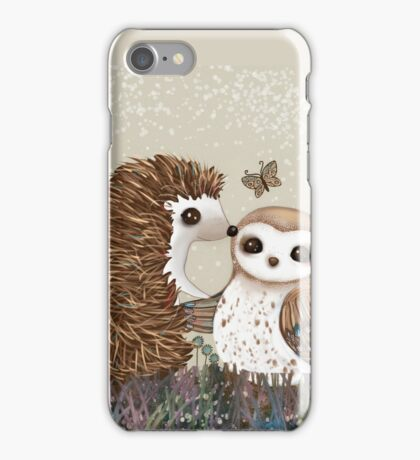 Owl and Hedgehog iPhone Case/Skin