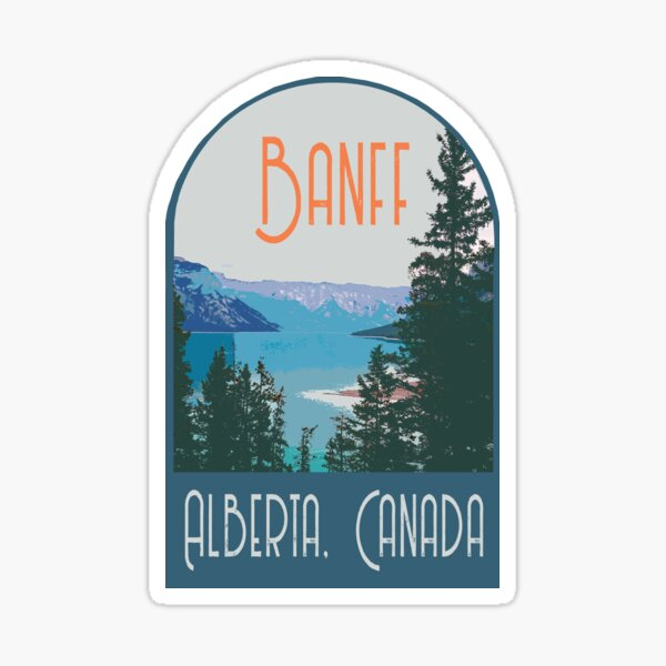 Banff Alberta, CA Decal Sticker