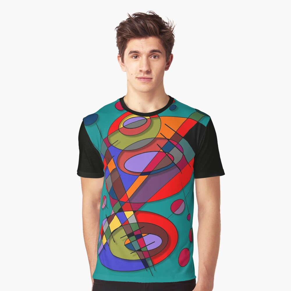Abstract #50 Graphic T-Shirt Front