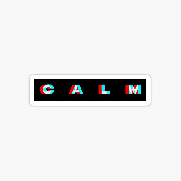 CALM Sticker