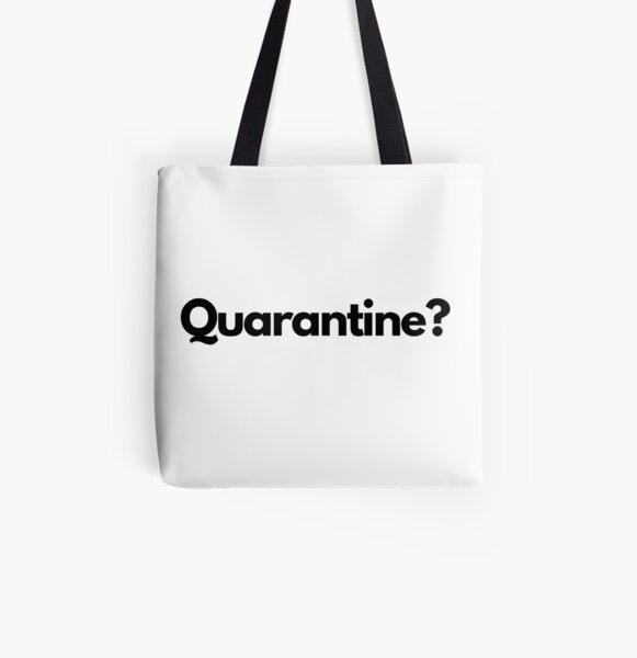 Large Tote Bag Banksy Superhero Social Distance Quarantine Nurse Cotton White