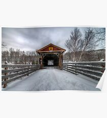 Fitch Bay Covered Bridge Poster
