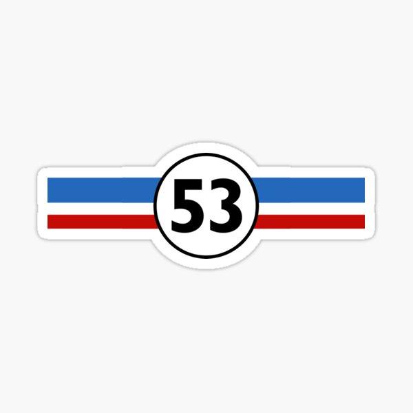 Herbie 53 Classic Racing Car 1963 Circle Logo # 1 Pegatina