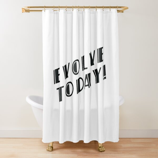 BioShock – Evolve Today! (Black) Shower Curtain