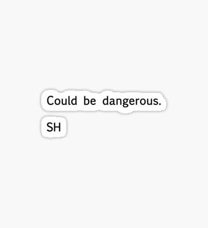 Sherlock Messages - 6 (Black) Sticker