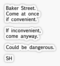 Sherlock Messages - 7 (Black) Sticker