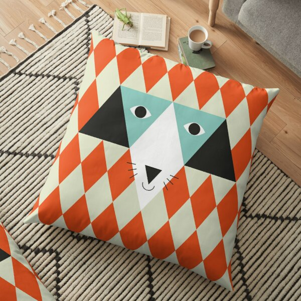 Triangle dog Floor Pillow