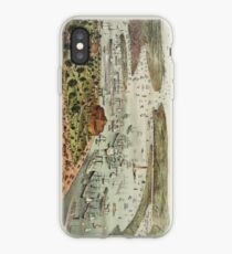 Vinilo o funda para iPhone Vintage Pictorial Map of The Port of New York