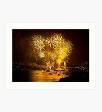 2012 sydney NYE fireworks - 2 Art Print