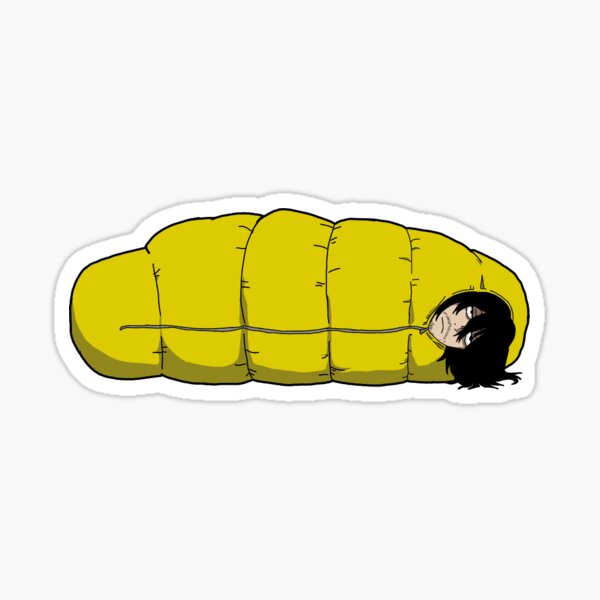 Mr. Aizawa Sleeping bag Sticker