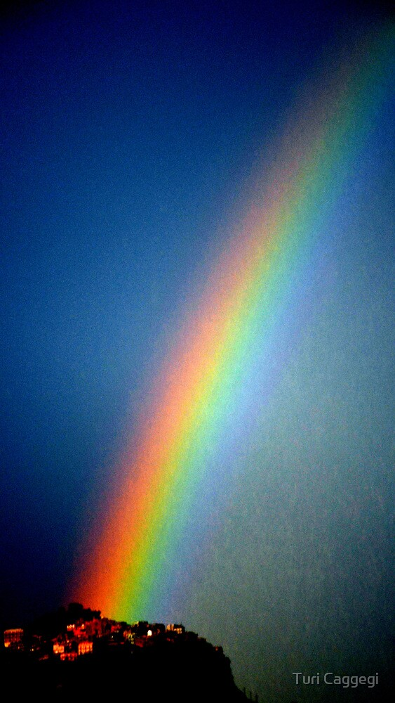 Rainbow on the rock. by Turi Caggegi