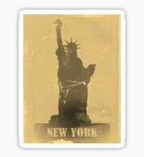 Statue of Liberty  Vintage T-Shirt Sticker