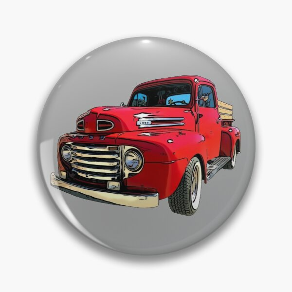 Red Truck from the 1940's Pin