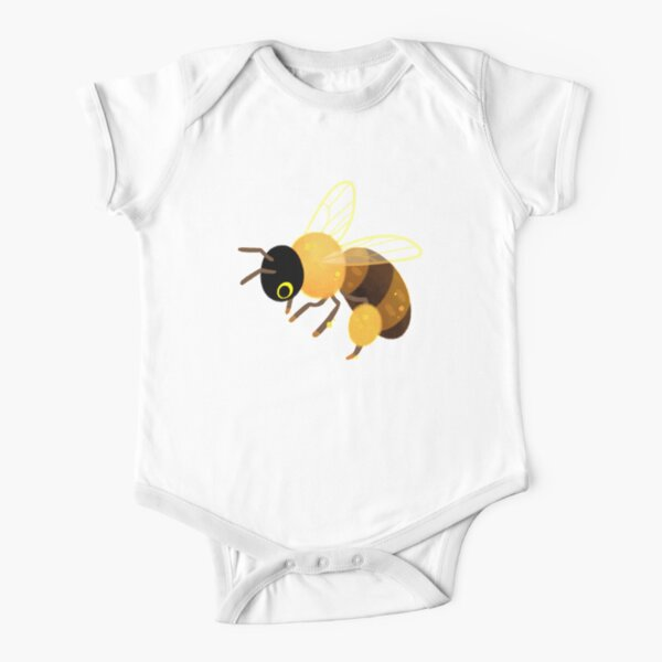 Honey bees Short Sleeve Baby One-Piece