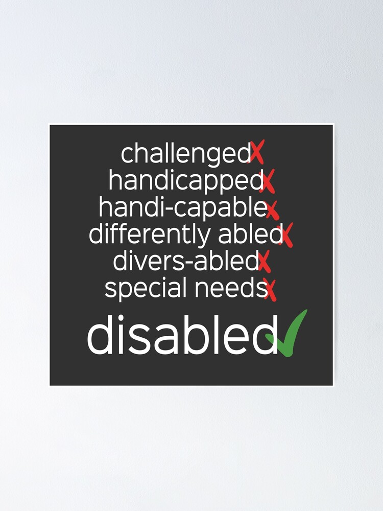 Alternate view of Disabled. Period. Poster