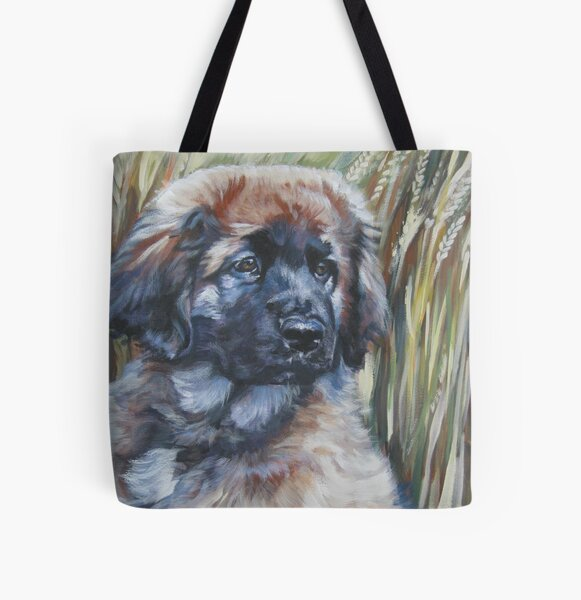 Leonberger Fine Art Painting All Over Print Tote Bag