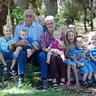 Grandparents with their Grandkids by Michelle *