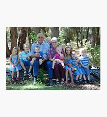 Grandparents with their Grandkids Photographic Print