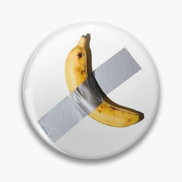Banane abgeklebt Button