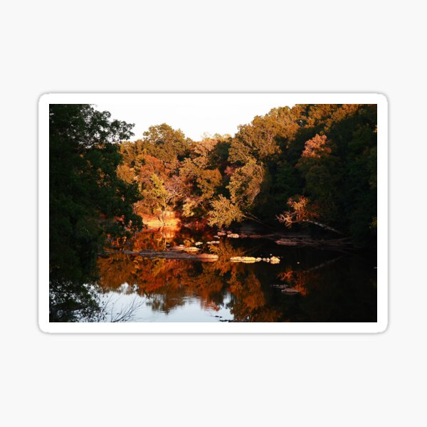 Sunset on the Haw River Sticker