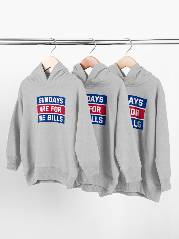 Alternate view of Sundays Are for the bills Toddler Pullover Hoodie