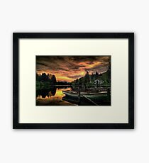 Spring Sunset On Loch Ard Framed Print