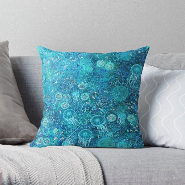 Diaphanous Lifeforms Throw Pillow
