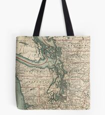 Vintage Map of The Puget Sound (1910) Tote Bag