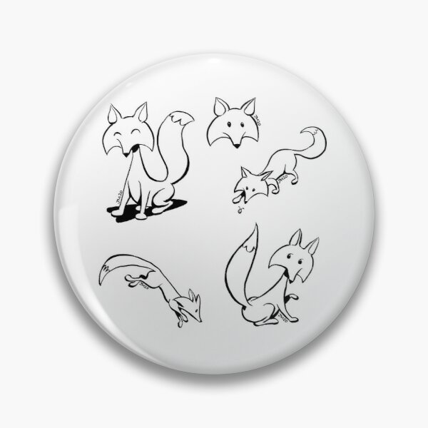 "foxes from ""Not That Magic"" Pin"