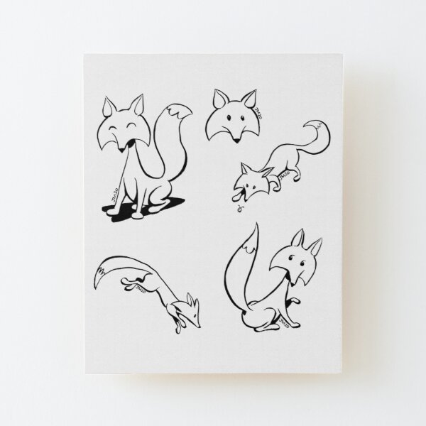 """foxes from """"Not That Magic"""" Wood Mounted Print"""