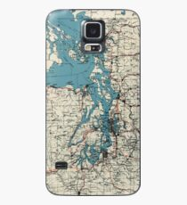 Vintage Map of The Puget Sound (1919) Case/Skin for Samsung Galaxy